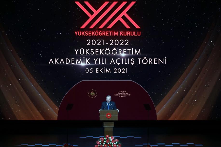 2021-2022 Yükseköğretim  Akademik Yıl Açılış Töreni Cumhurbaşkanlığı Külliyesind...