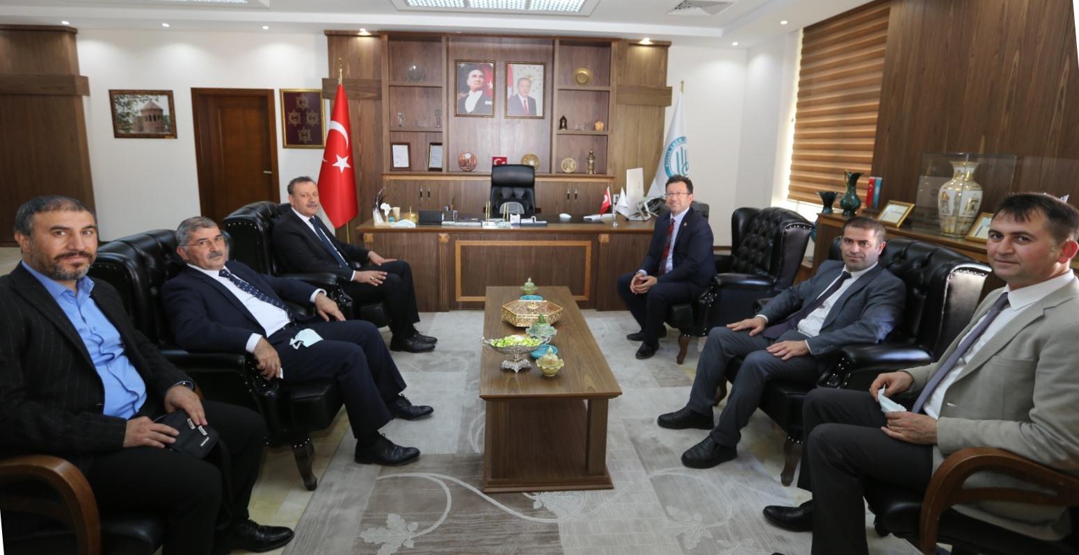 Rektörümüz, Bitlis Eren Üniversitesi Rektörü Prof. Dr. Necmettin Elmastaş'ı Ziya...